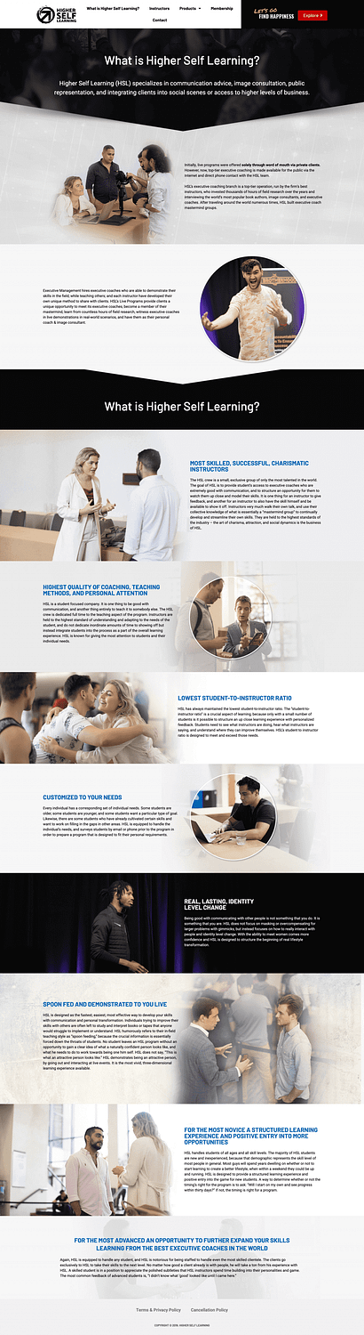 Personal Development Website Design