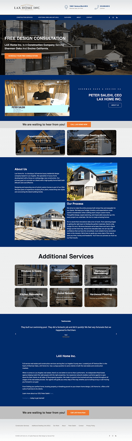 Real Estate Construction Website Design